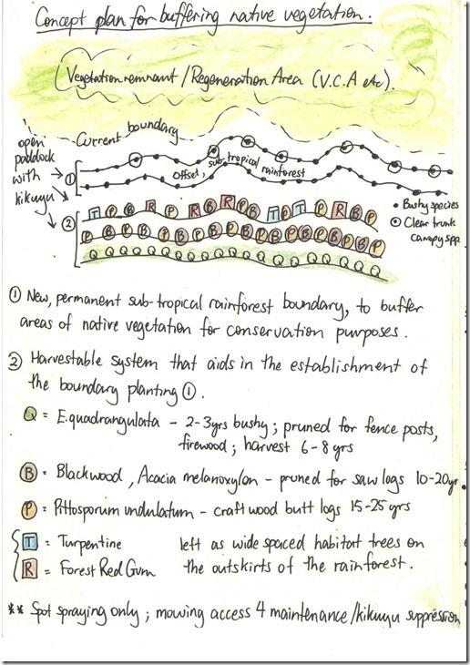 Concept Plan for bufferring Native Vegetation