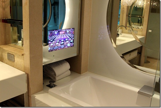 Crown Towers TV Set in the Bath