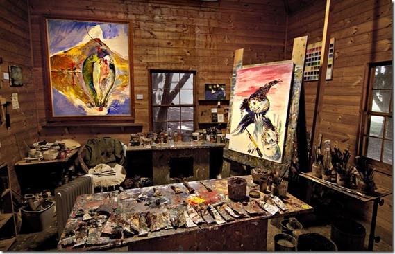 Arthur Boyd's Studio. Photographer Keith Saunders._0