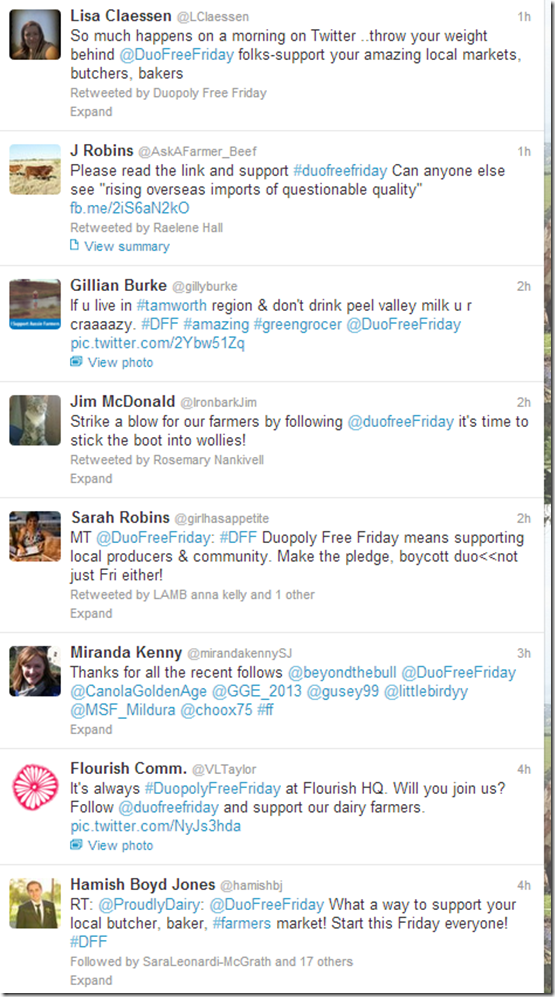 Duopoly Free Friday tweets
