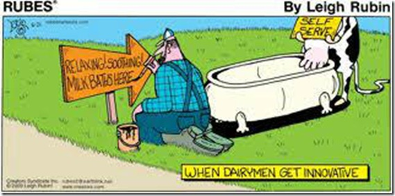 Milk in the bathtub