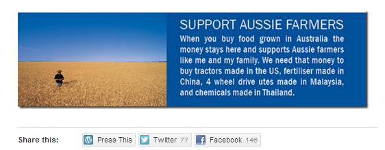 support Aussie Farmers
