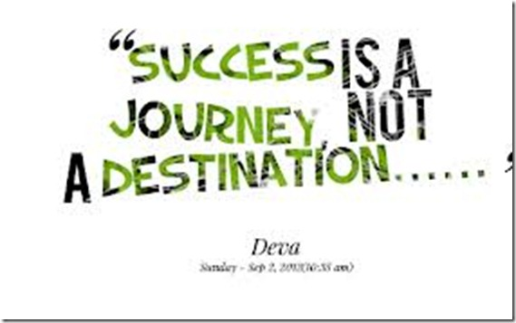sucess is a journey