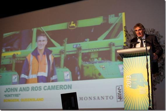 John Cameron accepting his award 01