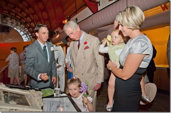 James Walker and family meet Prince Charles