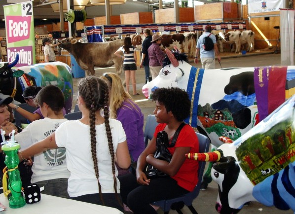 2008 Dairy activities in Cattle Pavilion