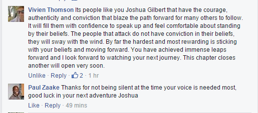 Josh Gilbert Comments 3