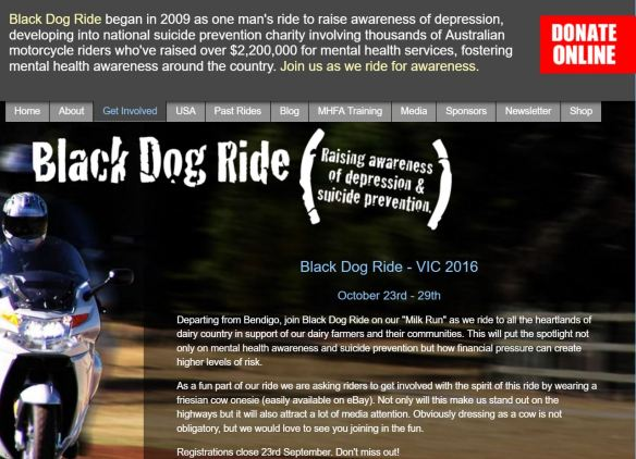 Black Dog Ride for Charity