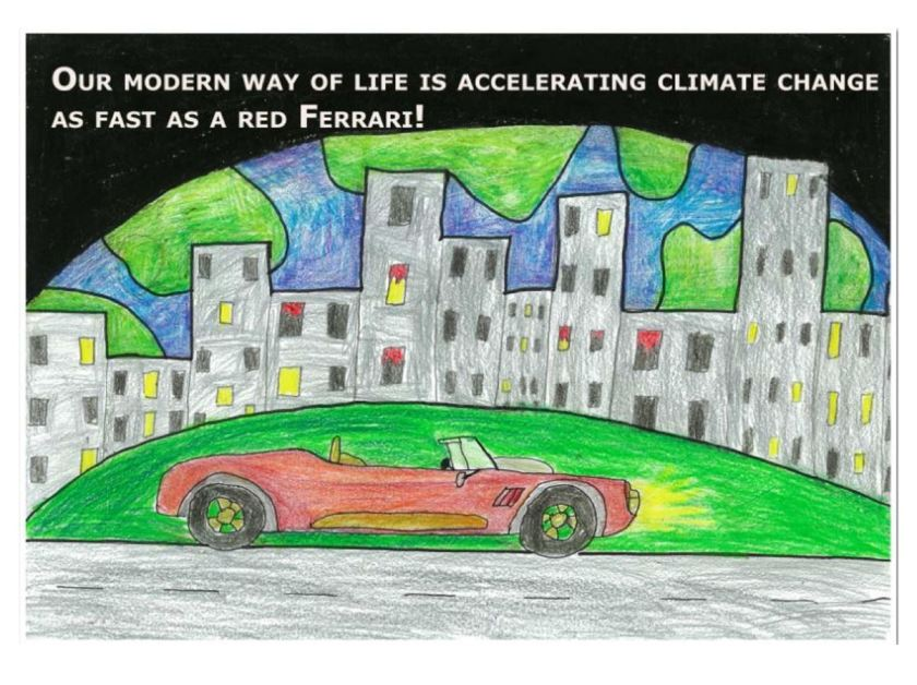 Climate Change and Red Ferrari