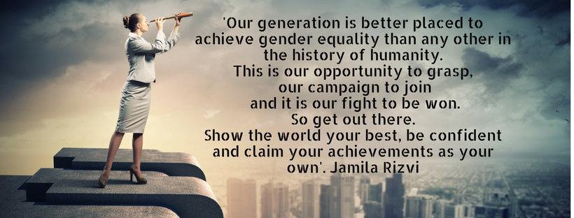 ur generation is better placed to achieve gender equality than any other in the history of humanity. This is our opportunity to grasp, our campaign to join and it is our fight t