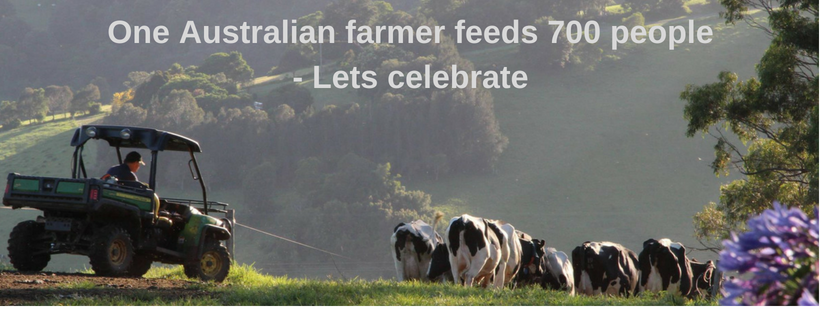 One Australian farmer feeds 700 people - time to celebrate